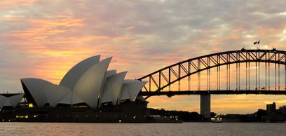 Sydney Harbor at Sunrise or Sunset.jpg