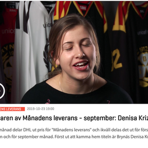 September 2019: Denisa Krizova, Brynäs