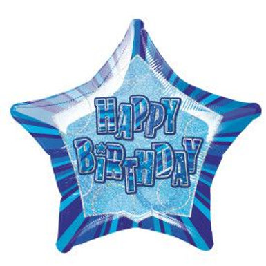 "Balloon Foil 18"" Happy Birthday Blue"