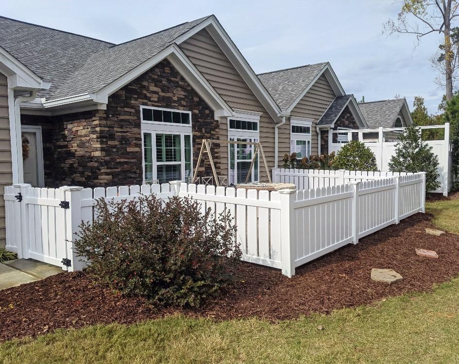 New Backyard Fence Installation