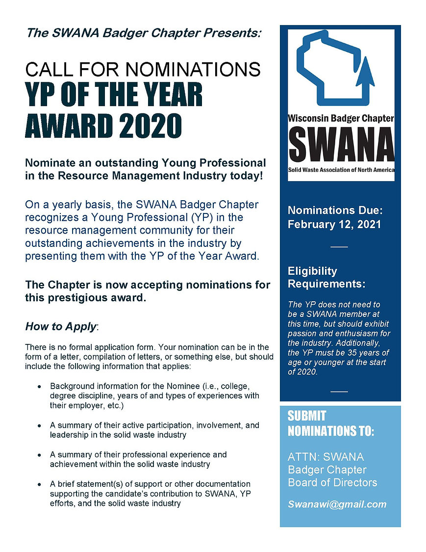 YP Of the Year Award Call for Nomination