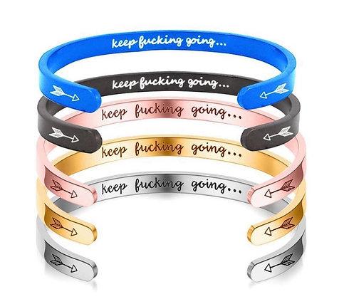 Keep F*@king Going Adjustable Bracelet