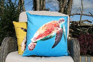 Turtle Velvet Cushion