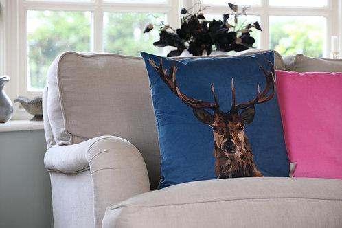 Stag Velvet Cushion