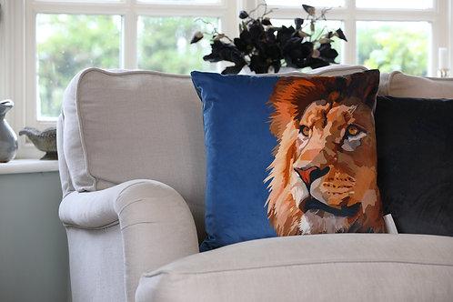 Lion Velvet Cushion