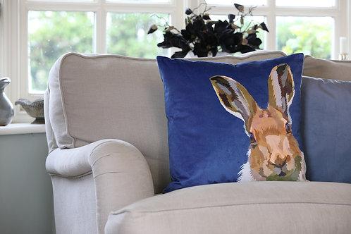 Hare Velvet Cushion