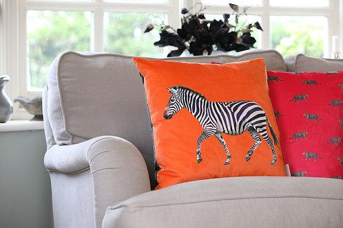 Zebra Velvet Cushion