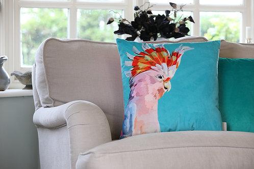 Major Mitchell's Cockatoo Velvet Cushion
