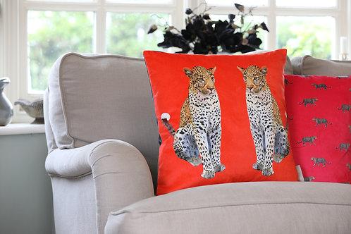 Leopard Velvet Cushion