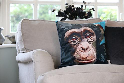 Chimp Velvet Cushion