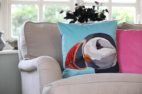 Puffin Velvet Cushion