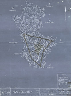 Survey and design proposal for the open space in Mwembetanga (1946)