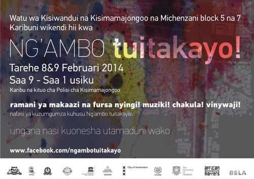Ng'ambo: Tuittakayo! Tarehe 8 & 9 Februari in Zanzibar