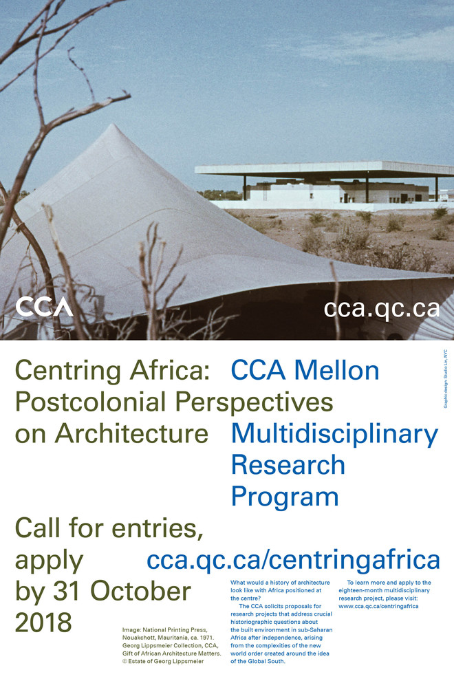 CCA welcomes applications for the Multidisciplinary Research Project Centring Africa: Postcolonial P