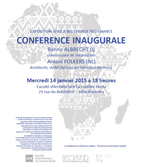 14 January in Brussels: Benno Albrecht and Antoni Folkers on Africa Big Change / Big Chance