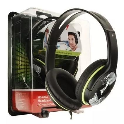 Fone Headset C/ Microfone P2 Genius Hs-400a