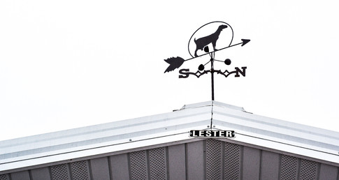 Weathervane on top milking barn