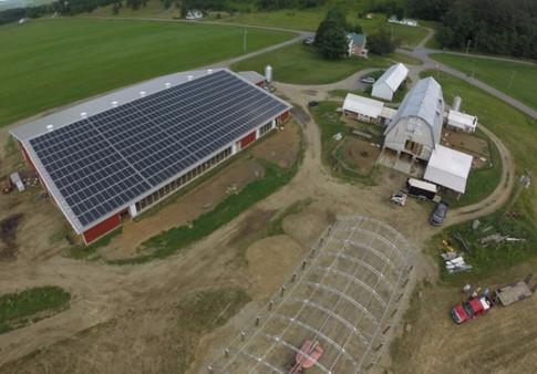 Aerial photo of Farm, taken summer 2016