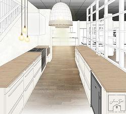 Layoutv2 - Vista 3D - 15 Cocina G Primer