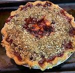 Gluten Free/Vegan Cranberry Pear Crumb Pie