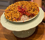 Meg's Gluten-Free, Vegan Cranberry-Pear Crumble Pie (9 inch pie)