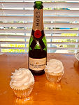 Gluten-Free & Vegan Champagne (full sized) cupcakes