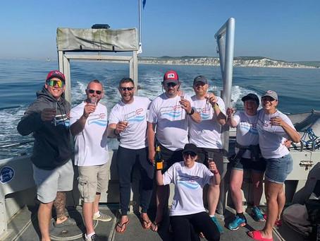The P2 Channel Swim Team did it!