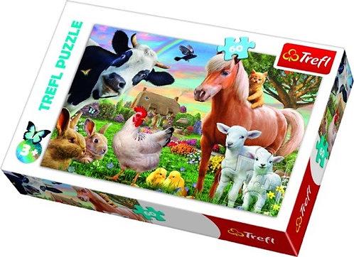 """Puzzles - """"60"""" - A cheerful farm"""