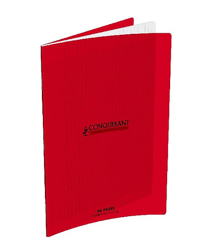 Conquerant Cahier Polypro A4 (21x29,7) 96p 90g Seyes Rouge