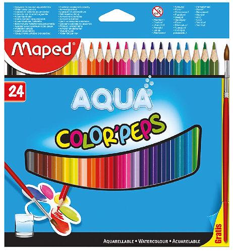Maped Crayon Aquarelle x 24 couleur + Pinceau