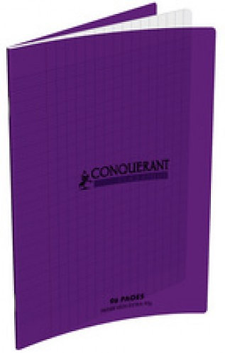 Conquerant Cahier Polypro 17X22 48P 90G Seyes violet