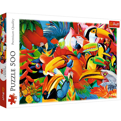 """Puzzles - """"500"""" - Colourful birds"""