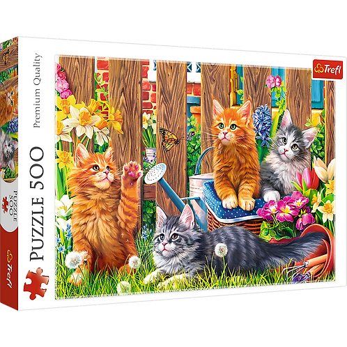 """Puzzles - """"500"""" - Kittens in the garden"""