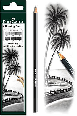 Faber Castel Drawing Pencils Set of  6
