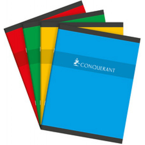 Cahier 17x22 Conquerant 96 pages 70gms Petits Carreaux (5x5)