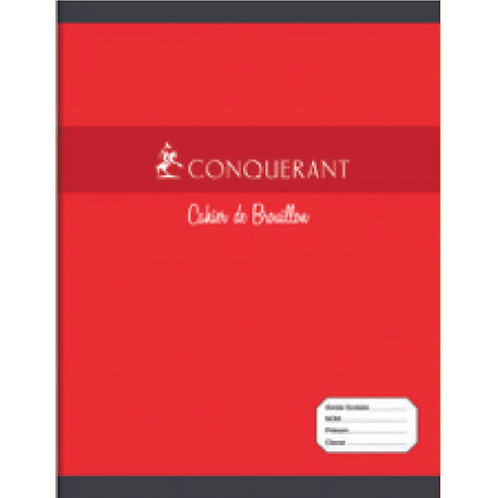 Cahier Brouillon 17x22 Conquerant 48 pages 56gms Grands Carreaux (Seyes)