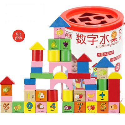 DIY Educational Wooden Building Blocks Toys