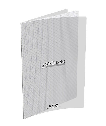 Conquerant Cahier Polypro A4 (21x29,7) 96p 90g (5x5) Incolore