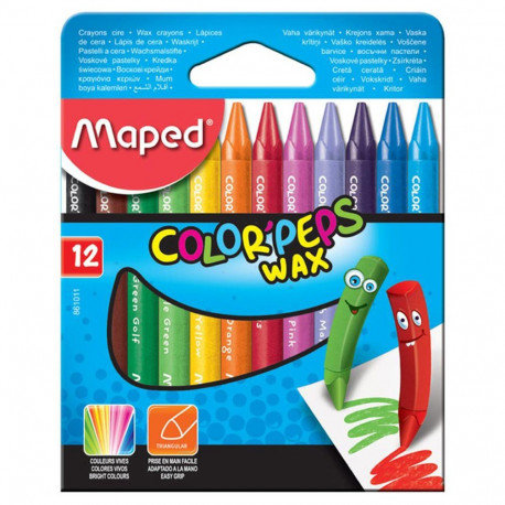 Maped Crayons Cire Color Peps x12