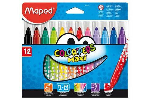 Maped Feutres Color'peps Maxi x 12