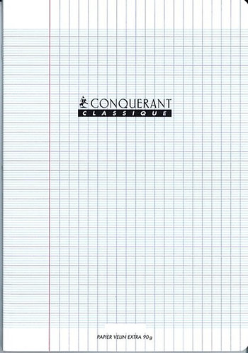Conquerant  - Cahier Polypro transparent 48 pages (24 x 32 - Seyes - 90g)