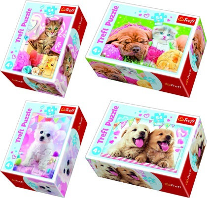 """Puzzles - """"54 mini"""" - Lovely pets"""