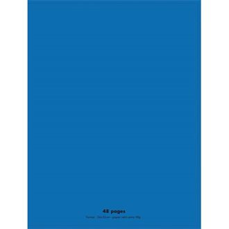 Conquerant  - Cahier Polypro Bleu 48 pages (24 x 32 - Seyes - 90g)