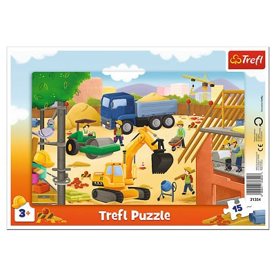"""Puzzles - """"15 Frame"""" - At the construction site"""