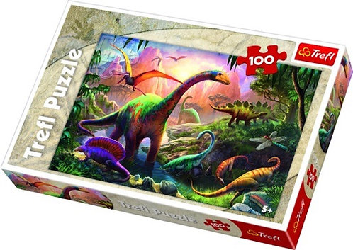 "Puzzles - ""100"" - Dinosaurs'land / Trefl"