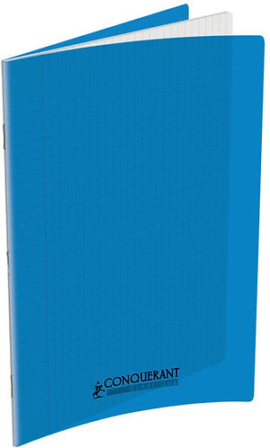 Conquerant  - Cahier Polypro bleu 96 Pages ( 24x32 - Seyes - 90g)
