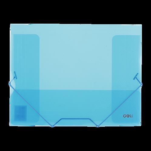 Deli Pochette à Elastique plastique A4 (3cm)- Bleue