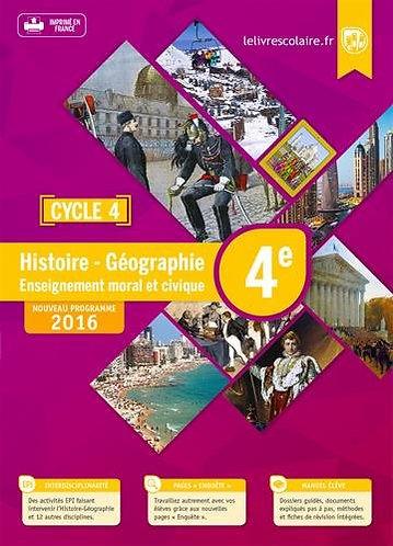 Histoire Géographie EMC 4e Cycle 4 : Manuel élève - Edition 2016
