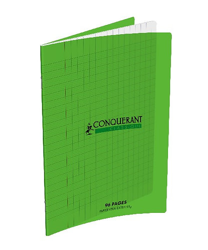 Conquerant Cahier Polypro 17X22 96P 90G Seyes Vert