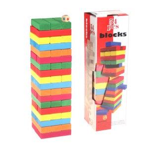 Jenga 54 Pieces Blocks Colored Big size